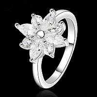 Кольцо покрытие серебро ювелирная бижутерия 734