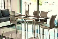GD-018 стол на кухню стеклянный раскладной Signal (в наличии пять цветов)