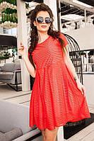 Летнее платье свободного кроя из легкой трикотажной ткани
