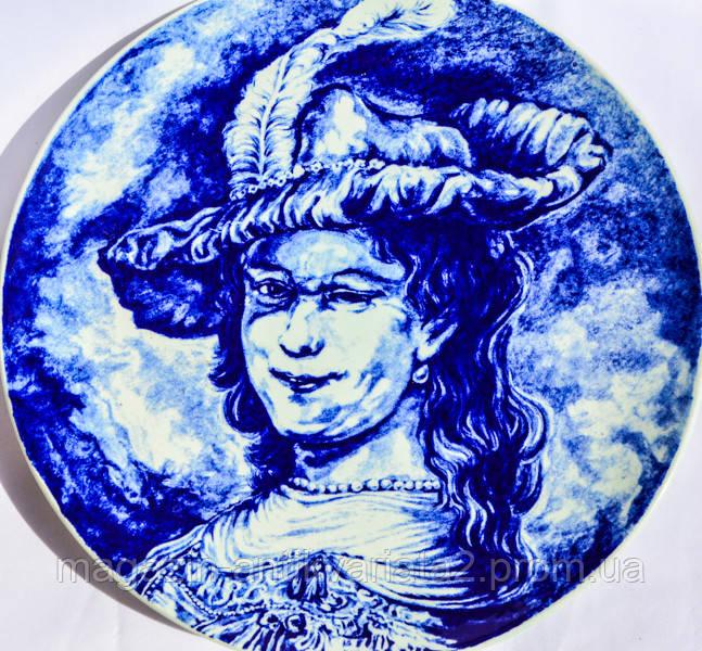 Коллекционная тарелка! Портрет! Дельфт! Delft, Голландия!