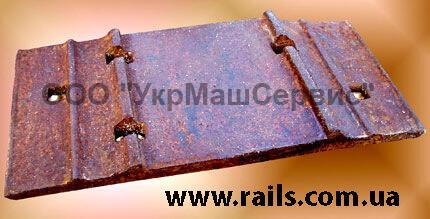 Подкладка костыльного скрепления к рельсам типа Р-43 подкладка Д-43 ГОСТ 7056-77
