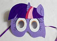 Карнавальная маска Пони Сумеречная Искорка (Твайлайт) для сюжетно ролевых детских игр Пони: дружба это чудо.