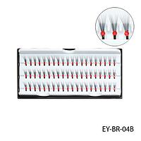 Ресницы пучковые - EY-BR-04B (с красными стразами 12 мм)