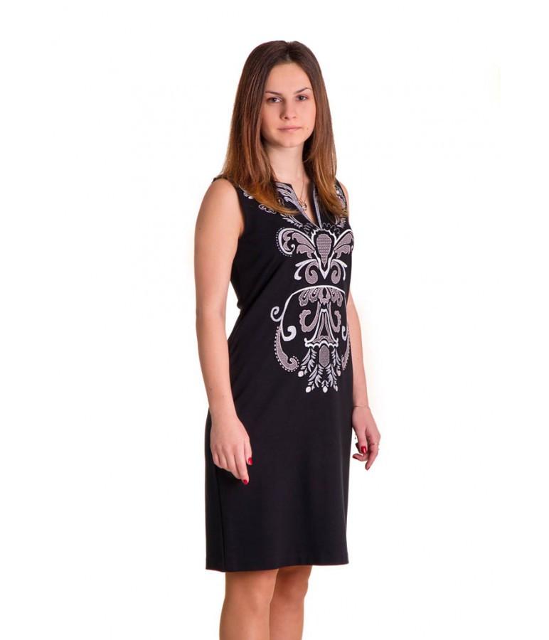 49ef5fc25811f75 Молодежное черное платье украшенное вышивкой, цена 478 грн., купить  Хмельницький — Prom.ua (ID#537128339)