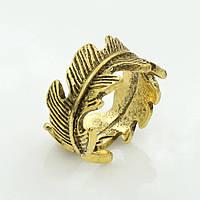 """Кольцо """"состаренное золото"""" ювелирная бижутерия, безразмерное 746-б"""