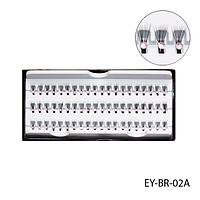Ресницы пучковые с розовыми стразами EY-BR-02A, 10 мм