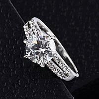 Кольцо покрытие серебро ювелирная бижутерия 1030