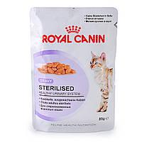 ROYAL CANIN Sterilised консервированный корм для стерилизованных кошек от 1 года до 7 лет 0,085КГ