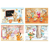 Альбом 12 листов Kite Popcorn Bear 241, на скобе