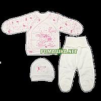 Костюмчик (комплект) на выписку р. 56 для новорожденного демисезонный ткань ИНТЕРЛОК 100% хлопок 3651 Розовый