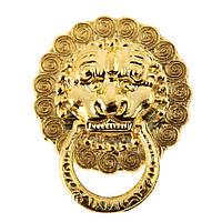 Ручка меблева голова лева під золото 20х23 мм