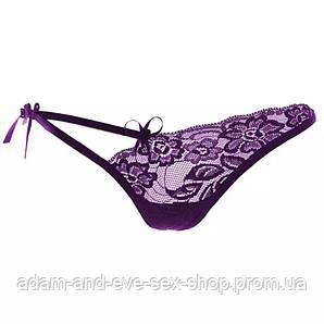 Фиолетовые трусики стринги
