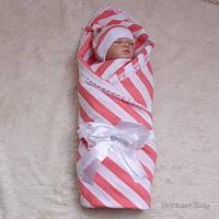 """Детский летний набор на выписку """"Матроскин"""" для новорожденной девочки (коралл)"""
