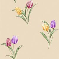 Обои рулонные бумажные *Тюльпаны 1088 ТМ Континент (Украина) 0,53*10,05