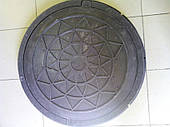 Люк канализационный (полимер-песчанный) черный