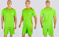 Футбольная форма подростковая Perfect CO-2016B-LG (PL, рост 120-150см, салатовый-оранжевый)