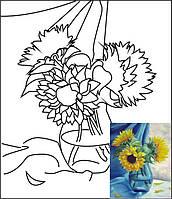 Полотно на картоні з контуром, Натюрморт № 8, 30*40, бавовна, акрил, ROSA Talent