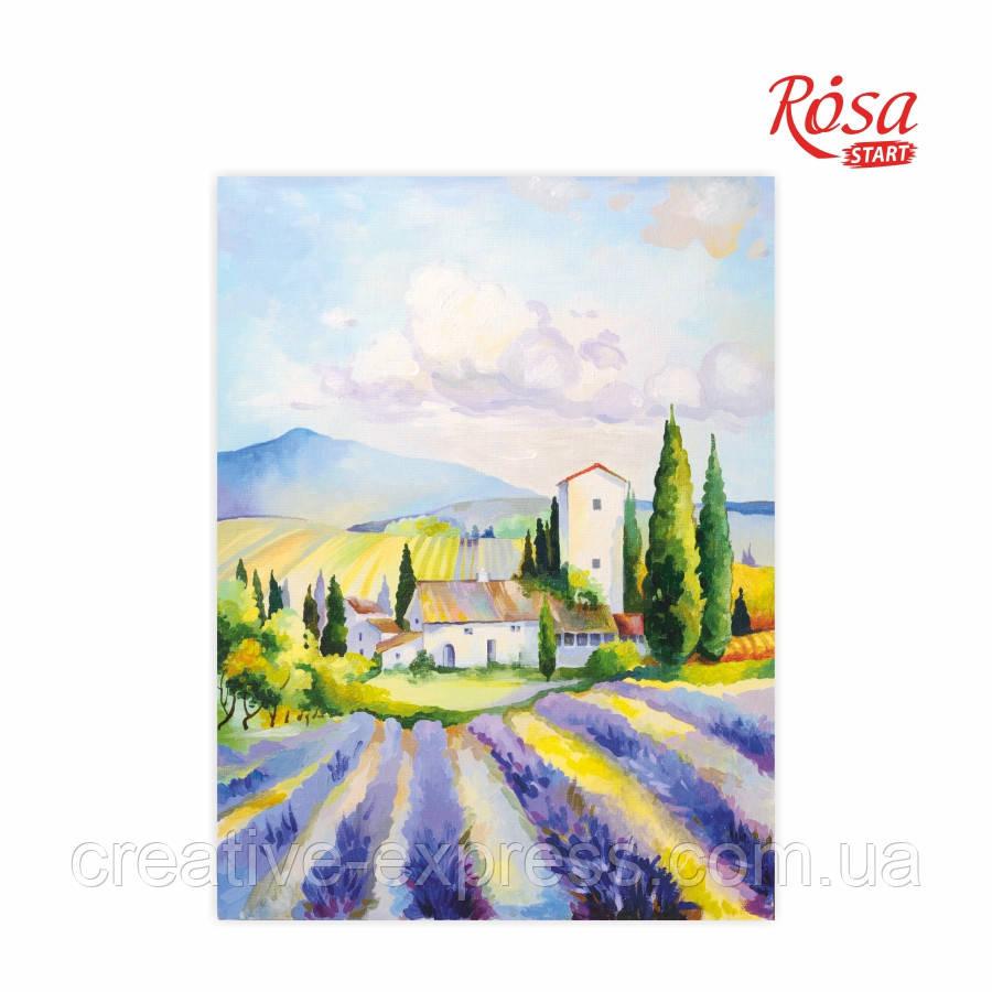 Полотно на картоні з контуром, Пейзаж №20, 30*40, бавовна, акрил, ROSA Talent