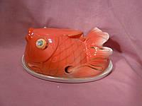 Блюдо Золотая рыбка с крышкой 20х12 см
