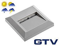 Герметичный LED светильник для подсветки стен, лестниц GTV SILVER KD 2Вт 100Лм 3000K IP65