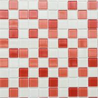Мозаика Leo Ceramica стеклянная pink white