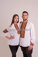 Парні вишиванки.Сорочка жіноча + сорочка чоловіча МВ-122п білий 993e3922a8288