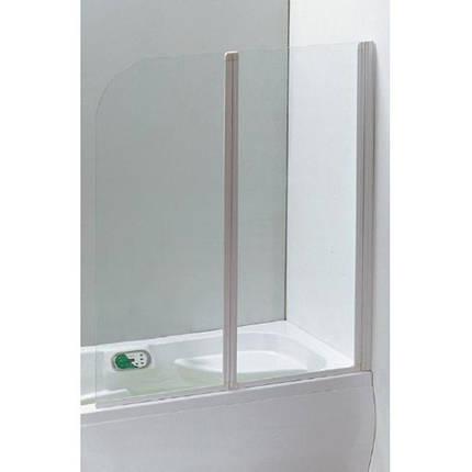 Шторка Eger на ванну  120*138 см, цвет профиля белый, фото 2