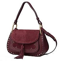 Женская сумка L.D L96291 бордовая