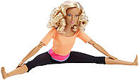 Кукла Барби йога Блондинка кудрявая в оранжевом топе Barbie Made to Move Doll, Orange Top