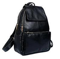 Женский кожаный рюкзак Tiding Bag t3126 черный