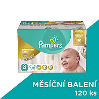 Подгузники Pampers Premium Care - 3 Midi (5 - 9 кг.) 120 шт. (Mega Box)
