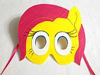 Карнавальная маска Пони  Флаттершай для сюжетно ролевых детских игр Пони дружба -это чудо.