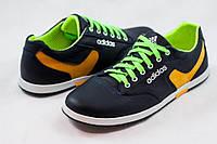 Мужские кожаные  кроссовки  кеды Adidas синие размеры 40, 41, 42, 43, 44, 45