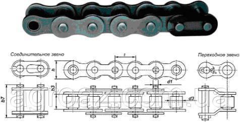 Цепь ПР-25.4-6000 (1.76) БАДМ 16А-1