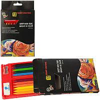Мелки пастельные Z0151 (192шт) 12шт, цветные, в кор-ке, 10,5-18-1,5см