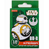 Набор цветных мелков «Star wars» 1 Вересня 400172, 12 штук
