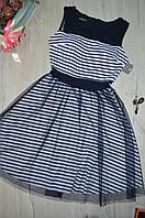 Женское короткое платье с юбкой  из фатина Италия, фото 1