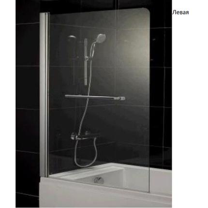 Штора Eger на ванну 80*150, стекло прозрачное, левая/правая, фото 2