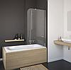 Штора Eger на ванну 80*150, стекло прозрачное, левая/правая