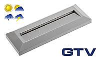 Герметичный светодиодный светильник для подсветки стен, лестниц GTV SILVER PA 2Вт 100Лм 3000K 120° IP65
