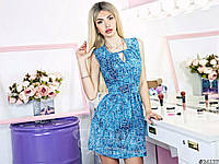 Красивое женское платье-сарафан в мини длине