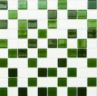 Мозаика Leo Ceramica стеклянная green white
