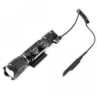Светодиодный подствольный фонарь Police Q90-T6, под ружье, вынос. кнопка, ак.18650