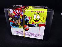 Картридж Sega 16в1 Марио Танчики Соник Колобок