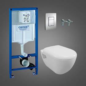 Комплект инсталляции Grohe Solido Perfect  4 в 1 - инстал. подвесным унитазом в компл.с сидением Soft-close
