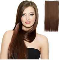 Накладные волосы на заколках.Тресса ровная .Одиночная широкая прядь.волосы на заколках клипсах.шиньен.