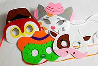 Набор карнавальных масок  для сюжетно ролевых детских игр Дикий запад
