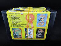 Картридж Sega 8в1 Aladdin Earthworm Jim Mickey Mania