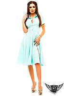 Платье-рубашка с разрезом сбоку