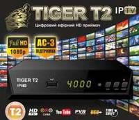 Эфирный цифровой ресивер Tiger T2 IPTV Интернет + Youtube +  AC3 Dolby Digital